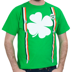 Men's Shamrock Suspenders T-shirt