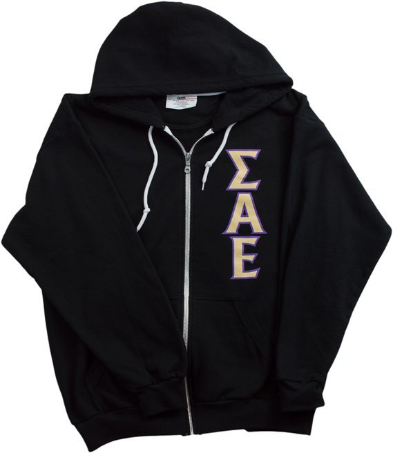 Sigma Alpha Epsilon zip up sweatshirt