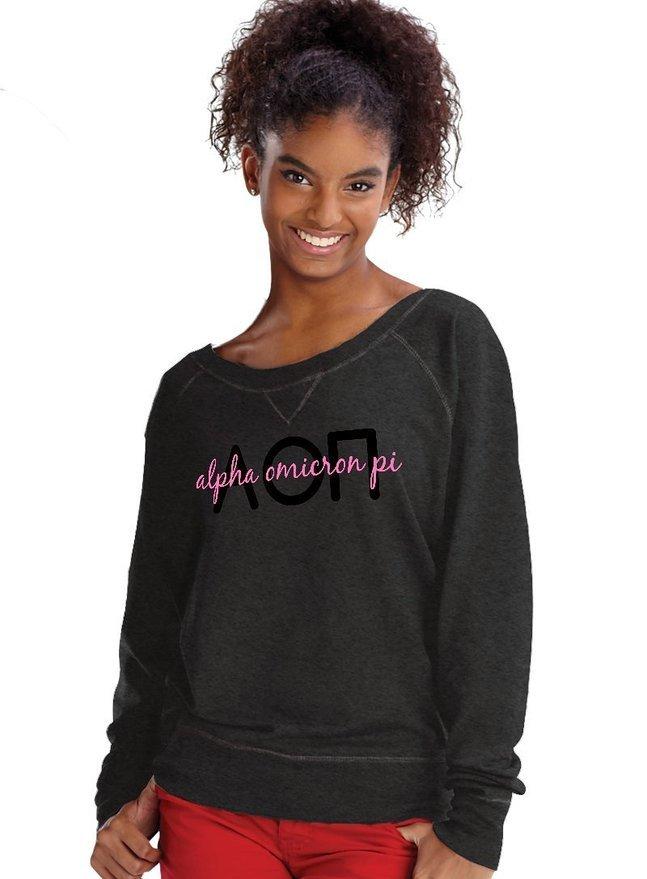 Alpha Omicron crewneck sweatshirt