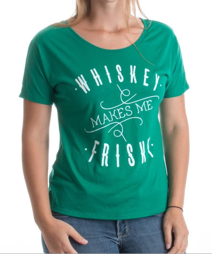 Whiskey Makes Me Frisky Slouchy T-shirt